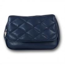 New Bags 2 in 1 gesteppte Gürteltasche Umhängetasche Kunstleder blau OTD5025B