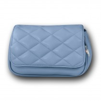New Bags 2in1 gesteppte Gürteltasche Umhängetasche Kunstleder hellblau OTD5025H