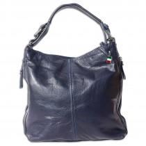 Florence Beuteltasche Echtleder dunkelblau Damen Hobo Bag Tasche OTF101M