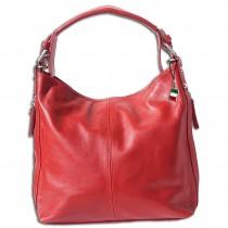 Florence Beuteltasche Echtleder rot Damen Hobo Bag Handtasche OTF101R