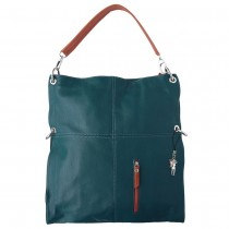 Florence Hobo Bag Umhängetasche blau echtes Leder Damen Schultertasche OTF102B