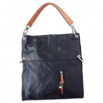 Florence Hobo Bag Umhängetasche schwarz Echtleder Damen Schultertasche OTF102F