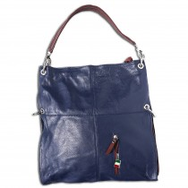 Florence Hobo Bag Umhängetasche blau echtes Leder Damen Schultertasche OTF102M