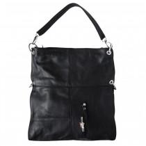 Florence Hobo Bag Umhängetasche schwarz Echtleder Damen Schultertasche OTF102S