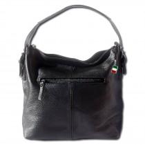 Florence legere Echtleder Hobo Bag Damen schwarz Schultertasche OTF110S