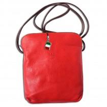 Florence Umhängetasche Schultertasche Damen echtes Leder rot braun OTF113R
