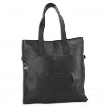 Florence Henkeltasche Schultertasche Tote Bag echtes Leder schwarz OTF116S