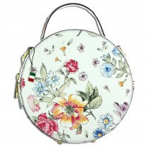 Florence runde Damen Schultertasche Blumen Leder Handtasche mehrfarbig OTF123F