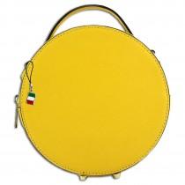 Florence runde Damen Schultertasche echtes Leder Handtasche gelb OTF123Y