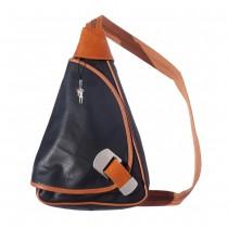 Rucksack, Schultertasche Leder schwarz-braun Rucksacktasche DrachenLeder OTF600C