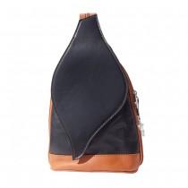 Florence Rucksack, Tasche echtes Leder schwarz braun Damenhandtasche OTF603S