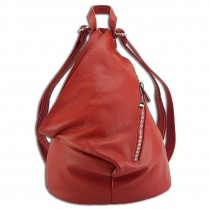 Florence Cityrucksack Freizeitrucksack echtes Leder Damen Daypack rot OTF607R