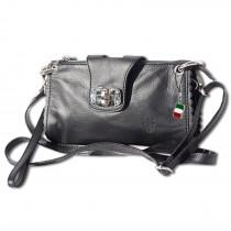 Abendtasche Clutch Wristlet Leder schwarz Umhängetasche DrachenLeder OTF801S