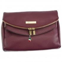 Florence 2in1 Damen Schultertasche Clutch echtes Leder Tasche bordeaux OTF803D