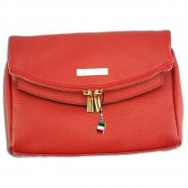 Florence 2in1 Damen Schultertasche Clutch echtes Leder Tasche rot OTF803R