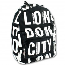 Robin Ruth Rucksack London City Baumwolle schwarz weiß OTG6020S