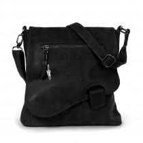 Bag Street Umhängetasche, Schultertasche Kunstleder schwarz Handtasche OTJ128S