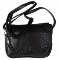 Bag Street Abendtasche, Umhängetasche Leder schwarz Damen Handtasche OTJ135S