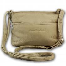 Jennifer Jones Tasche Leder beige kleine Echtleder Damenhandtasche OTJ1460C