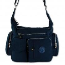 Schultertasche Nylon blau Damen crossover Umhängetasche Bag Street OTJ205B