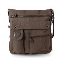 Umhängetasche Nylon braun Cross-Body Schultertasche Bag Street OTJ206C