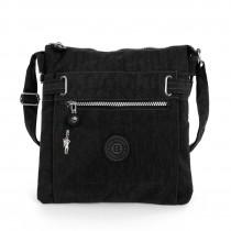 Damen Umhängetasche schwarz Nylon Schultertasche Bag Street Handtasche OTJ207S