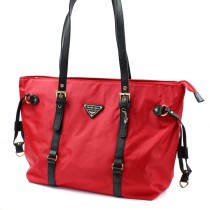 Shopper Damen Handtasche rot Nylon Schultertasche Jennifer Jones OTJ211R