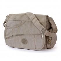 Bag Street Umhängetasche Nylon grau Modische Überschlagtasche Crossover OTJ214L