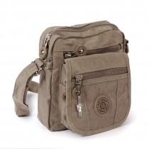 Bag Street Umhängetasche Nylon grau, braun Schultertasche Crossover OTJ215L