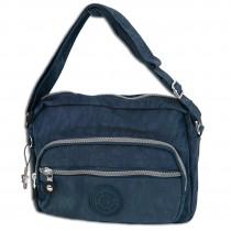 Bag Street leichte Umhängetasche Nylon blau Handtasche Schultertasche OTJ227B