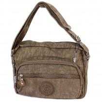 Bag Street leichte Umhängetasche Nylon stone Handtasche Schultertasche OTJ227L