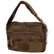 Bag Street leichte Umhängetasche Nylon braun Handtasche Schultertasche OTJ227N