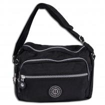 Bag Street leichte Umhängetasche Nylon schwarz Handtasche Schultertasche OTJ227S