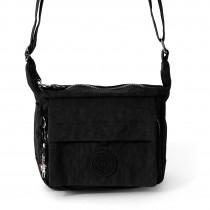 Handtasche Abendtasche Nylon schwarz Damen crossover Tasche Bag Street OTJ232S