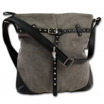 Jennifer Jones Handtasche Canvas grau Modische Damenhandtasche OTJ2390K