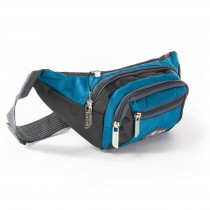 Bag Street sportliche Gürteltasche Nylon blau Bauchtasche Hüfttasche OTJ507B