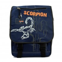 Bag Street Rucksack blau großer Schulranzen Schultasche Nylon Ranzen OTJ602B