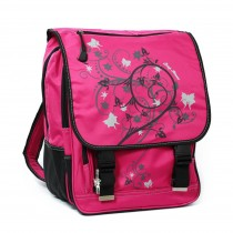 Bag Street Rucksack Nylon pink großer Schulranzen Schultasche OTJ602P