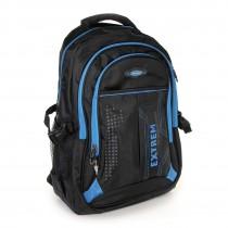 Bag Street Rucksack Synthetik schwarz, blau Laptopfach Laptoprucksack OTJ605B