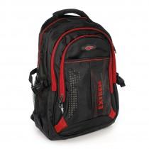 Bag Street Rucksack Synthetik schwarz, rot Laptopfach Laptoprucksack OTJ605R