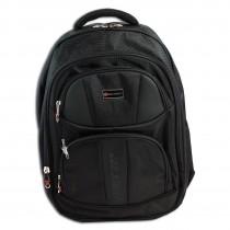 Bag Street Rucksack Synthetik Business schwarz Laptopfach gepolstert OTJ652S
