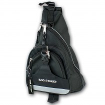 Bag Street Rucksack Nylon schwarz Bodybag Eingurt-Rucksack OTJ6570S