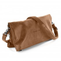 Jennifer Jones 2in1 Clutch Umhängetasche Kunstleder cognac braun Damen OTJ800C