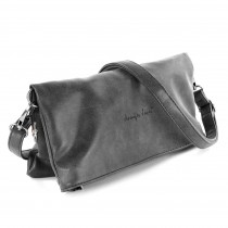 Jennifer Jones 2in1 Clutch klappbar Umhängetasche Kunstleder grau Damen OTJ800K