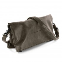 Jennifer Jones 2in1 Clutch Umhängetasche Kunstleder taupe Damen OTJ800N