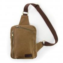 Umhängetasche Canvas braun Bodybag Crossover Schultertasche Manoro OTK213N