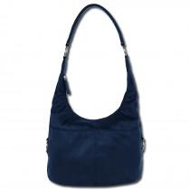 Beuteltasche Kunstleder blau Hobo Bag Damen Handtasche DrachenLeder OTS100B