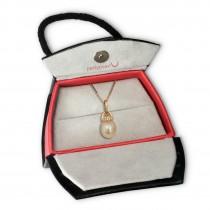 PartyPearl Schmuck Set Perlenkette rose mit Verpackung Damen 925 Silber PPK002E9