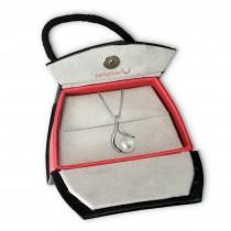 PartyPearl Schmuck Set Perlenkette weiß mit Verpackung Damen 925 Silber PPK005W8