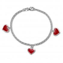 SilberDream 16,5cm Kinder Armband Herzchen 925 Silber SDA010